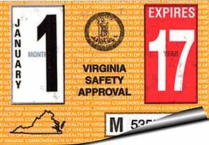 Virginia State Inspection Sticker